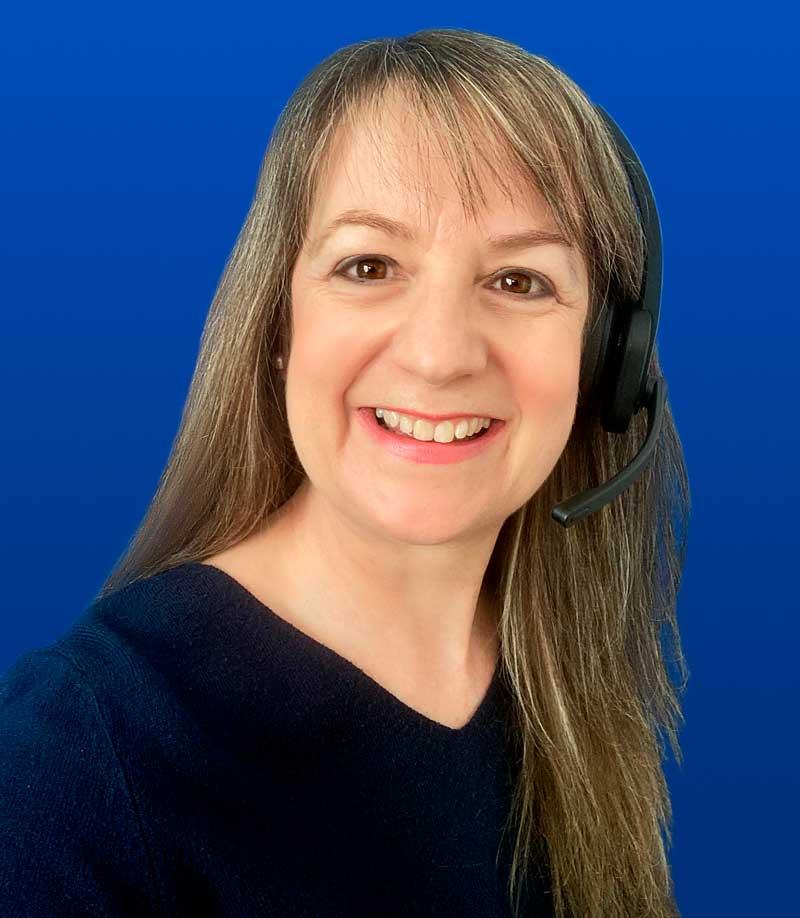 Tina with headset